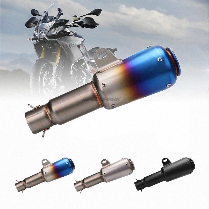 Motosiklet ATV 1Ype # için 51mm Evrensel Motosiklet Scooter egzoz borusu Yenileme Tarihi Çelik Egzoz Genişletilmiş Tüp Kuyruk