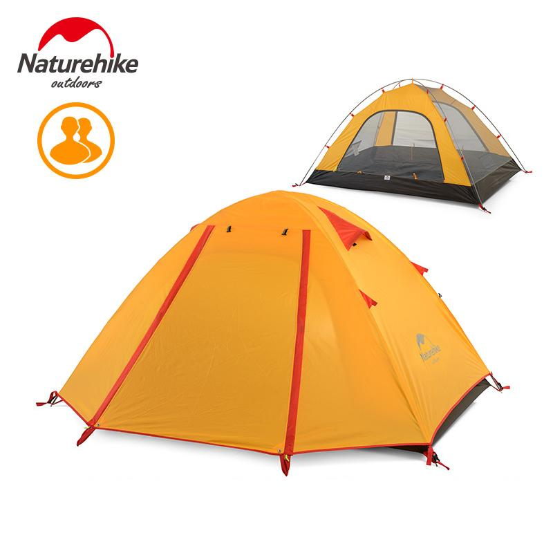 Naturehike extérieur Camping Tente 2 3 Personne 5000mm étanche en aluminium Rod 4 personne Randonnée Pêche Tourisme Tente famille NH15Z003-P