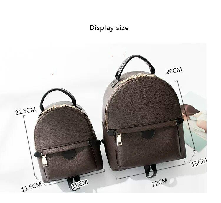 Rucksack Bag Druckfedern Mini Mode Leder Kinder Rucksack Echtes Leder Palm Frauen Taqst