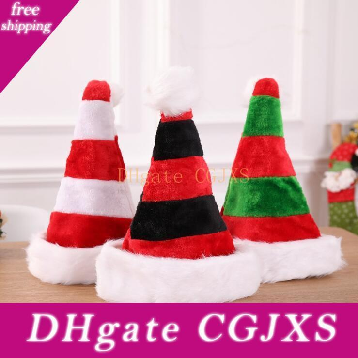 Noël en peluche Chapeau Pompon extérieur personnalisé ski Bonnet chapeaux rayé hiver chaud fête de Noël décorative Cap Livraison gratuite Lxl462
