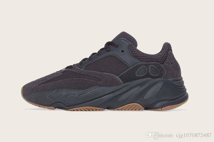 Sıcak Satış Otantik Originals 700 Fayda Siyah Süet 3M Yansıtıcı Ayakkabı Kanye West Erkekler Kadınlar Tephra Spor Sneakers ile Kutu 36-46 Running