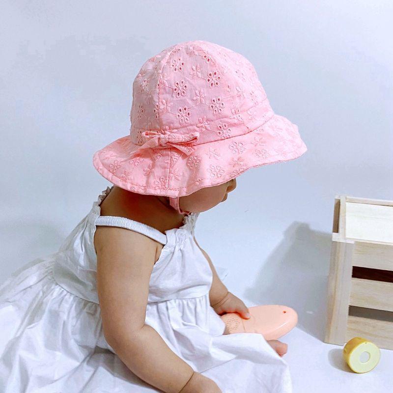 bandage bacia algodão Balde pescador bebê verão chapéu de sol estilo coreano moda chapéu do bebê da princesa das crianças novas