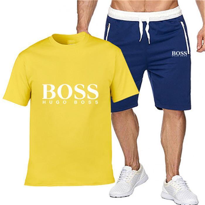 spor eğlence spor Joggers lüks kısa kollu 003 eğitim Erkek spor takım elbise tasarımcısı elbise iki parçalı erkek tişört ve şort