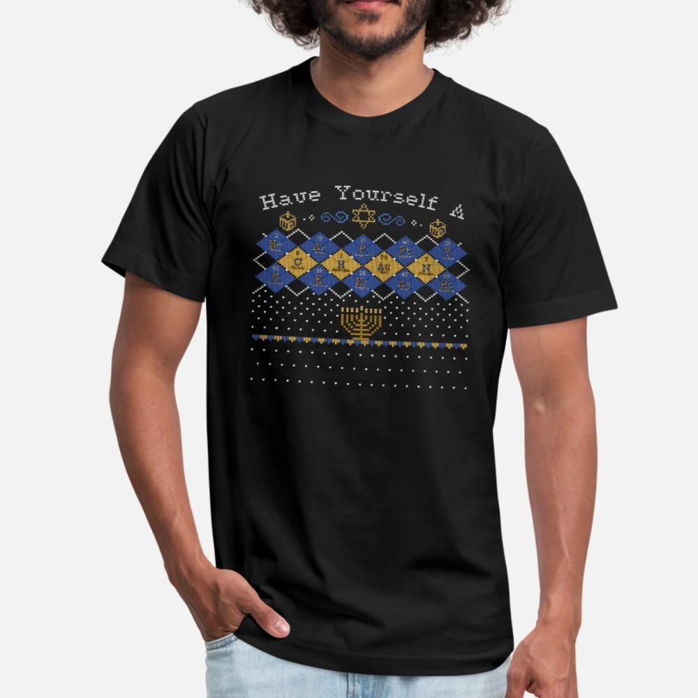 Argyle Elements Chanukkah t shirt homme Conception shirt S-XXXL Vintage célèbre Humour Printemps shirt original