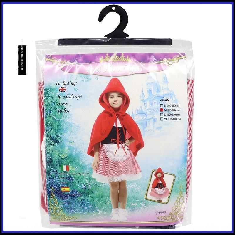 P2Knj Хэллоуин cosplaywear детская драма Little Little Red Hat одежда Красная Шапочка характер платье костюм G-0180 платье