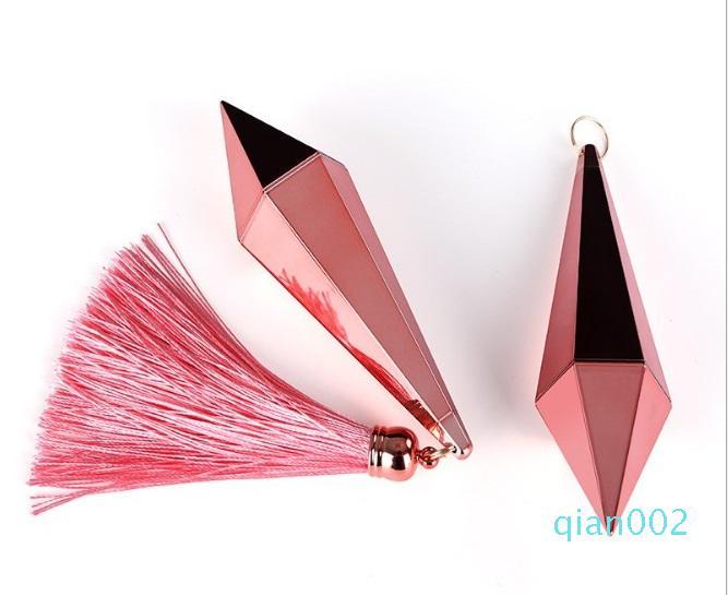 Rossetto tubo della Rosa oro vuoto della forma delle labbra Rouge compatto contenitore di bellezza fai da te Utensili diamantati Lip Balm Tube, 12,1 milioni
