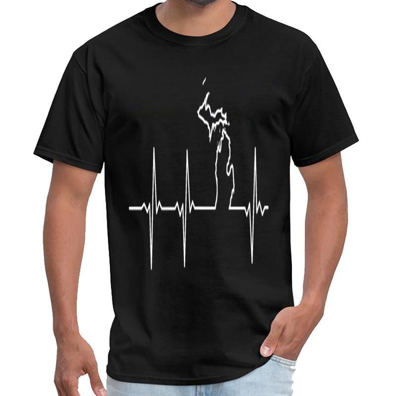 Мода Мичиган Heartbeat Ссср тенниски женщин Футболка мужчин XXXL 4XL 5XL HipHop Tops