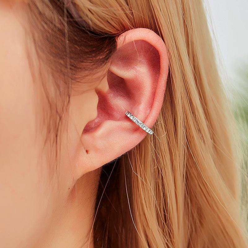 Vintage Clip on Earrings Crystal Ear Cuff Non Pierced Earrings Nose Ring New Fashion Women Earrings punk rock earcuff
