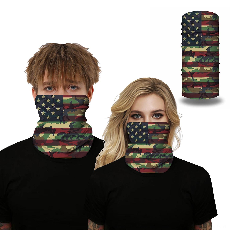 2020 bandeira nacional americana Aqueça o lenço bandeira nacional impressão multi-funcional à prova de vento quente respirável lenço máscara ao ar livre equitação