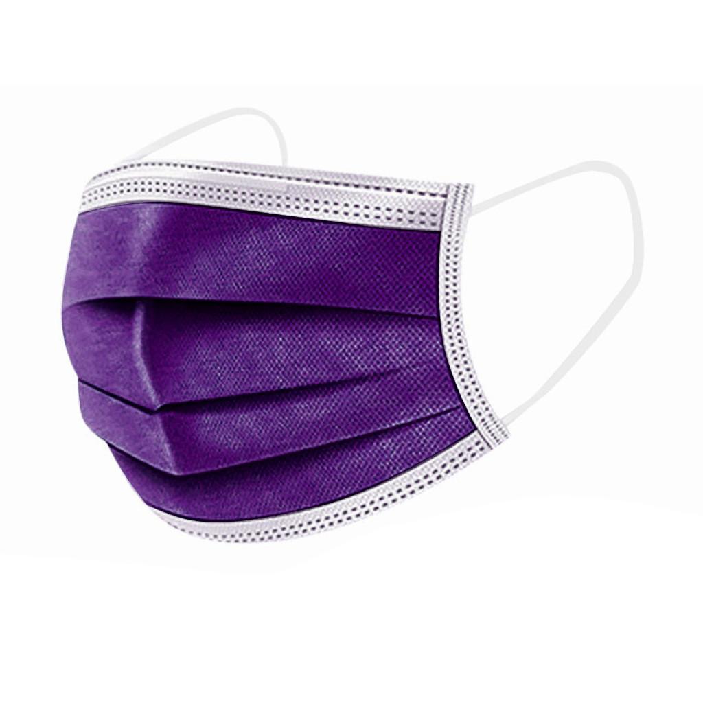 Gesichtsmasken Mund Frauen Erwachsene 3 Lila Schutz Facemask Masken Einweg Mascarillas Staubabdeckung Tela Schichten De iwutf TFPGM