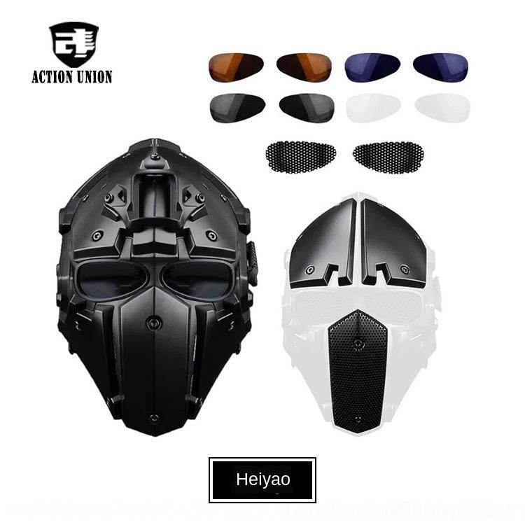 casque masque tactique équitation d'extérieur d'une seule pièce Baotou tactique CS casque intégral HAxlp