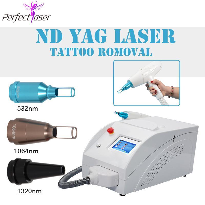 Vente chaude portbale Nd Laser 1064 / 532nm de laser de détatouage pour l'enlèvement de cicatrice enlèvement de rousseur la machine Q-switch utilisé dans le salon de beauté