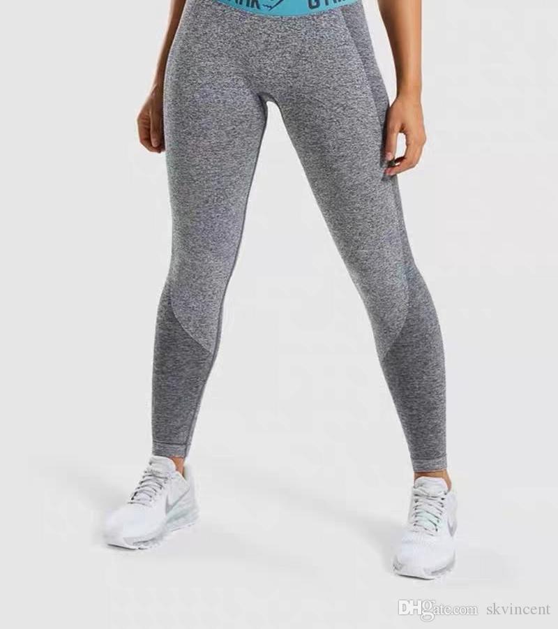 Delle donne pantaloni lunghi manica del vestito grils Designer Sportwear Yoga Tute fitness Gymshark Sport abbigliamento da palestra lettera della stampa due abiti da fermo
