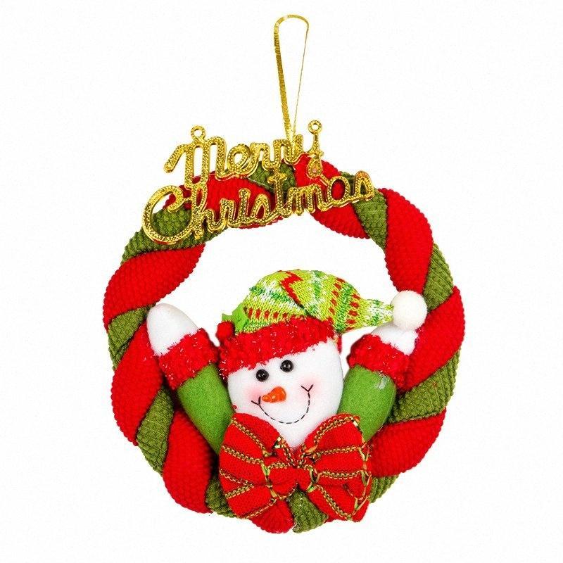 Corona Ciondolo Natale Con peluche della bambola Ghirlanda decorativo per le vacanze Muro Finestra Porta Hanging ornamenti Dropshipping BoUP #