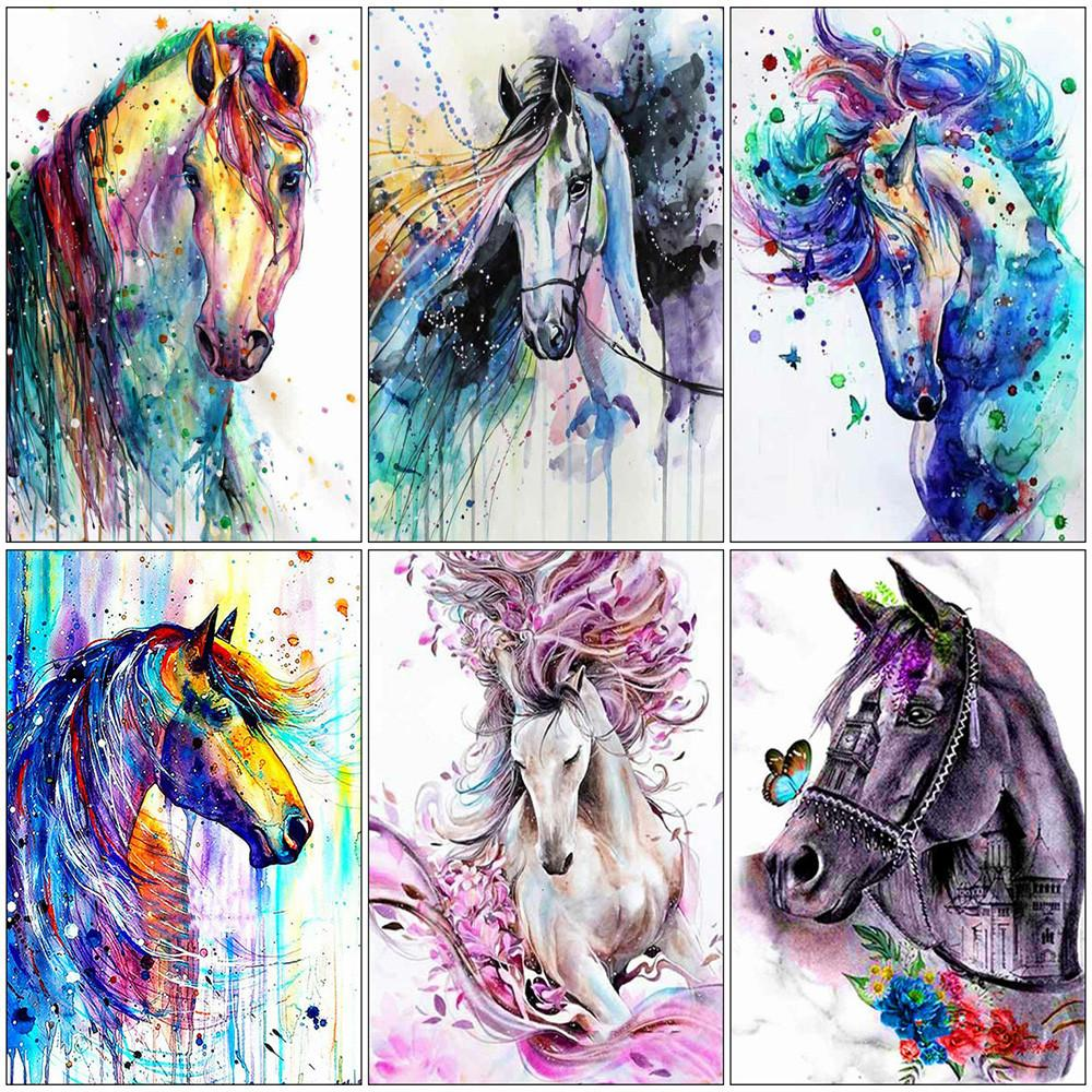Full Square Diamond Embroidery Animals Horse Handmade Gift Wall Decoration Diamond Painting DIY Handicrafts