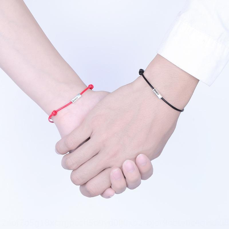 argento S925 doppia felicità degli uomini paio di e braccialetto paio semplice studente di personalità delle donne Mori tutto-fiammifero V1dji