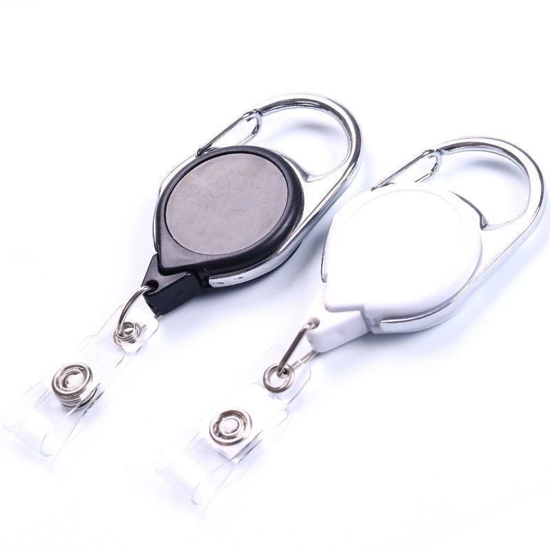 Holder style carte Longe Badge Pull Tag Badge Nom bobine Reels Id anneau noir clé rétractable bobine chaîne rétractable mousqueton mvhbFH