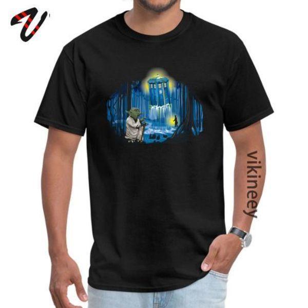 Mestre Tardis starry night shirts Dr Who caprichoso paródia personalizado T-shirt 100% algodão de volta ao