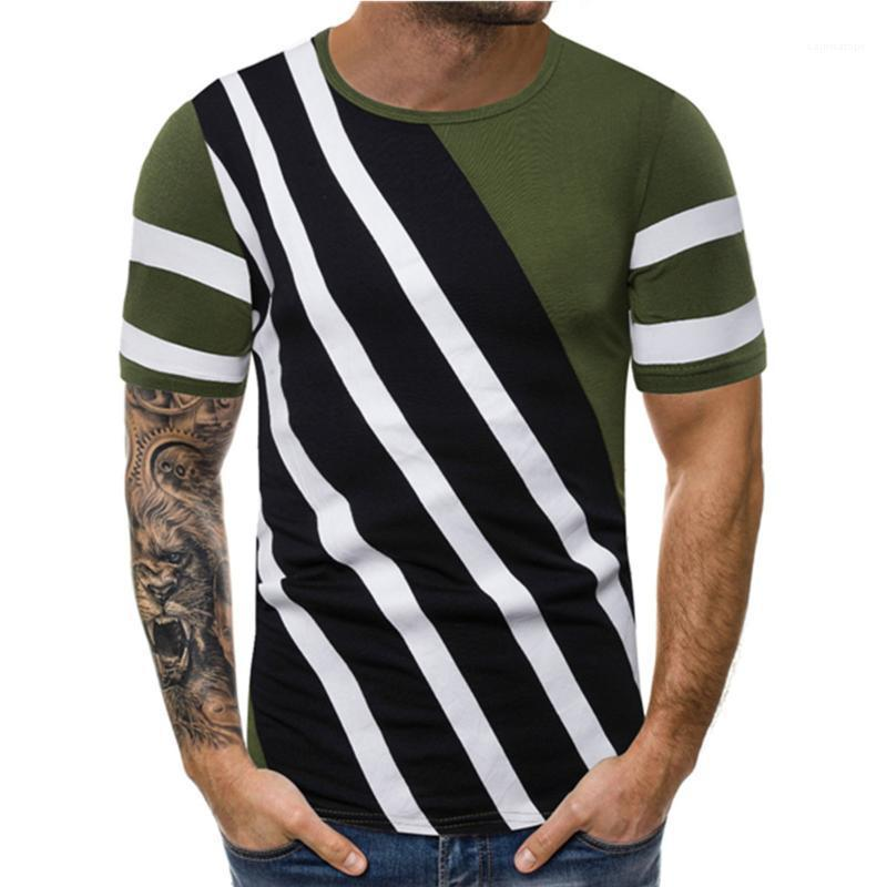Tasarımcı Casual Saf Color Line Pallened Erkek Gömlek Tasarımcı Tayfa Yaka Kısa Kollu Vintage Erkekler Rasgele Tees Tops