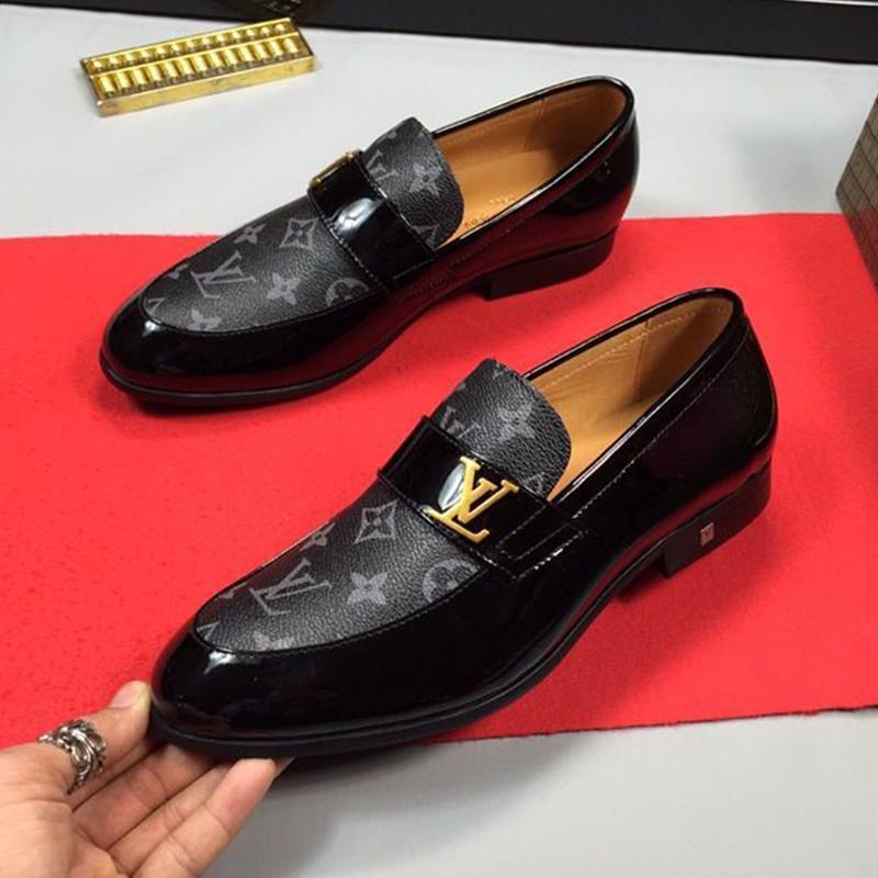 Neue 2020 Männer Schuhe Luxus Retro Plus Size Herrenschuhe Chaussures Gießen Hommes Breath Luxus-Kleid-Schuh-Männer Fußbekleidungen Germain Loafer