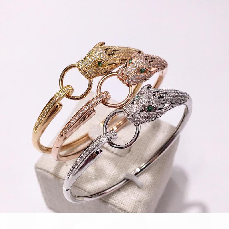 léopard bracelet gros bijoux léopard chaud européen et la bague de style plaqué or cuivre de style américain bracelet de diamants bracelet léopard