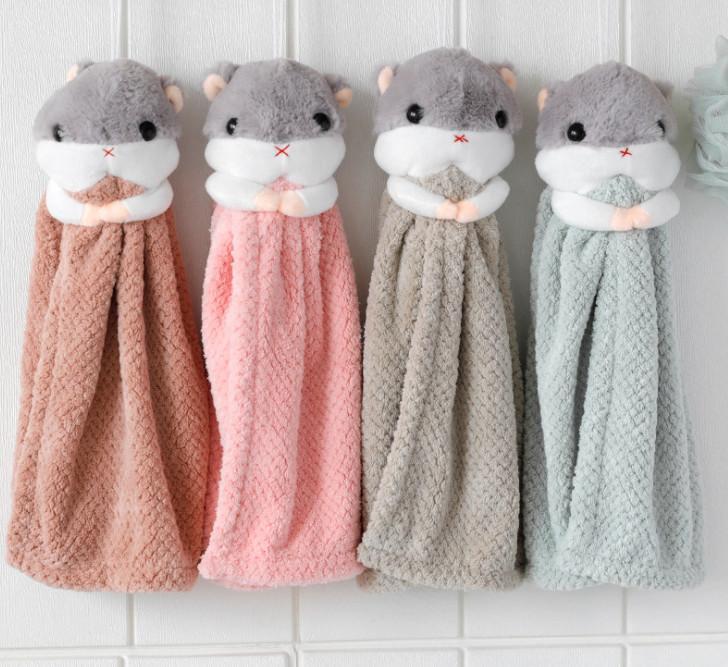 أحدث 35x18cm حجم الأرنب الكرتون يمكن أن يكون شنقا نوع مناشف اليد ماصة مطبخ الحمام سميكة منشفة صغيرة