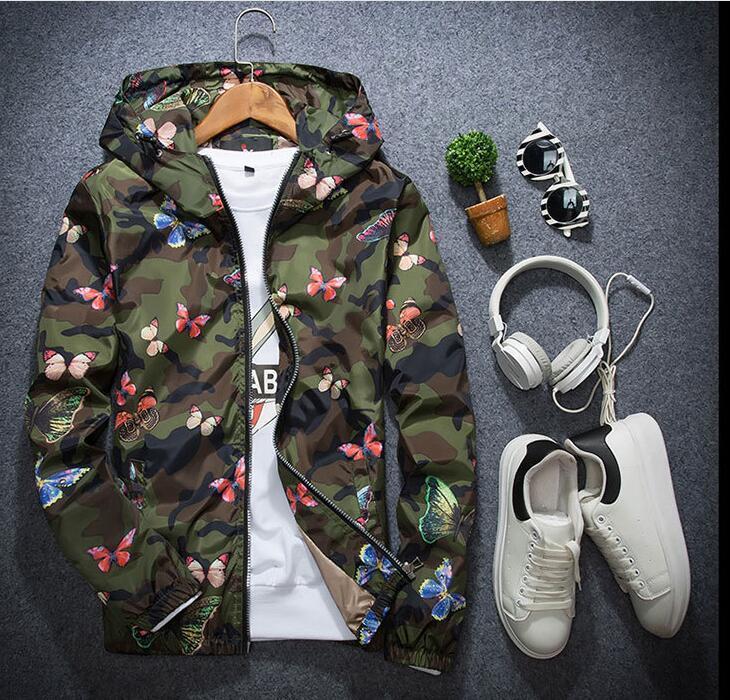 2019 Outono homens jaqueta de inverno jaquetas casuais jaqueta amante do hip hop jaqueta corta-vento com capuz homens magros coat zipper parka