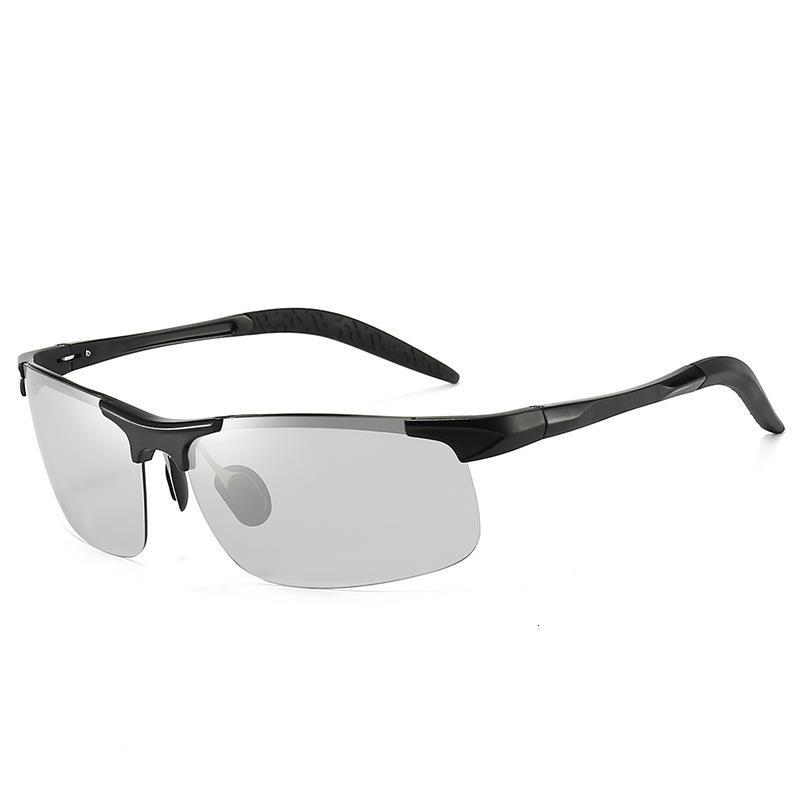 Aluminium Magnesium polarisierte Sonnenbrillen Männer im Freien Sport Driving Angeln Sonnenbrille Farbwechsel Brille 8177
