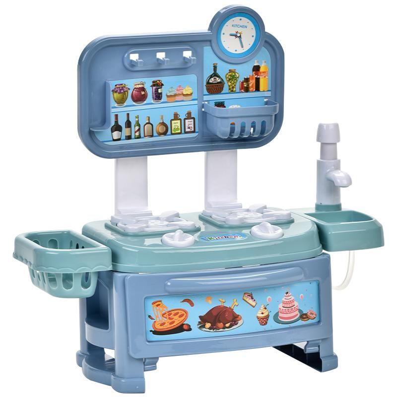 Kinder spielen mit Küchenutensilien Nahrung Zubehör Spielzeug Simulation Kochen Spaß abnehmbar sowohl Jungen und Mädchen