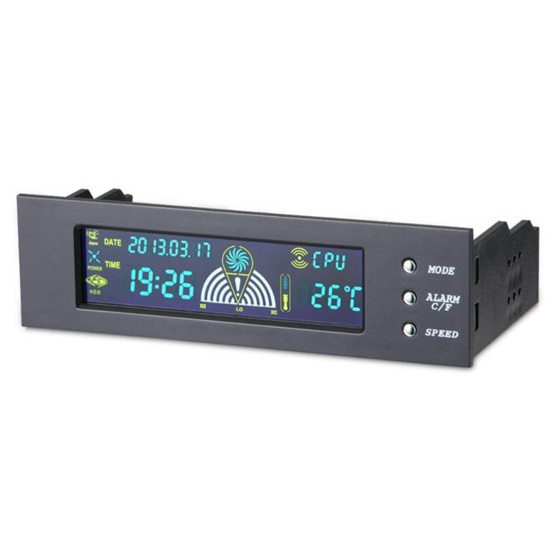 5,25 pouces de vitesse du ventilateur Bay Controller panneau avant LCD 3 CPU Contrôleur de vitesse du ventilateur Capteur de température CPU / HD / SYS sonde de température
