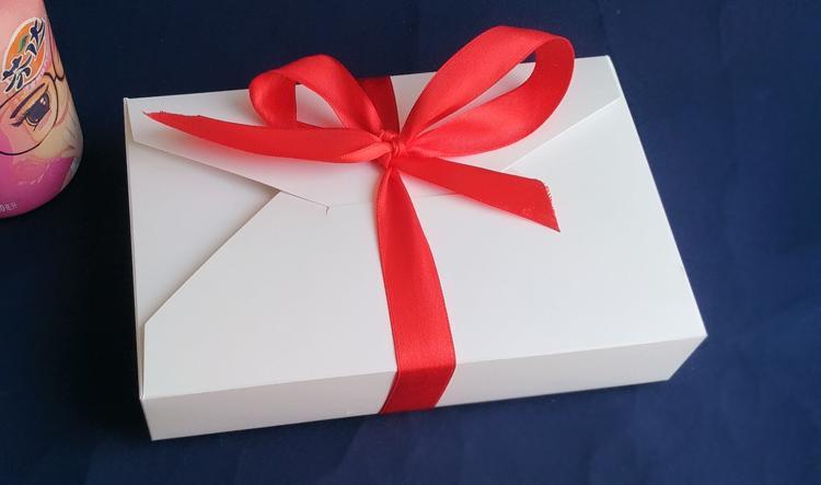 30pcs 19.5 * 12.5 * 4cm Imballaggio bianco Scatola di cartone della carta per la caramella \ torta \ dessert \ partito \ Natale scatole di imballaggio