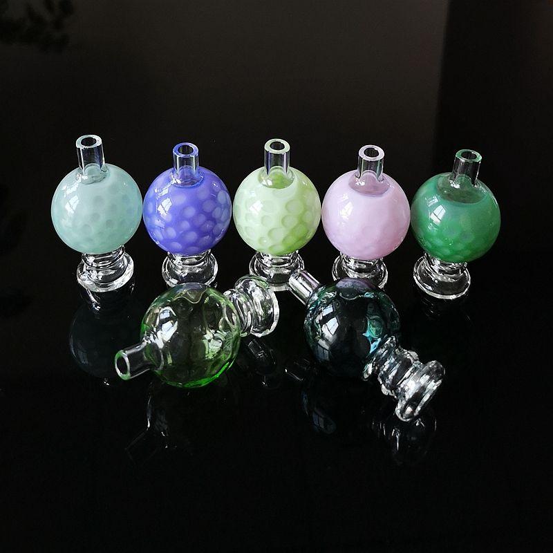 Bolla di vetro colorato Carb Cap per Cappelli quarzo Banger Nails vetro Carb per i tubi dell'acqua XL-SA02-08