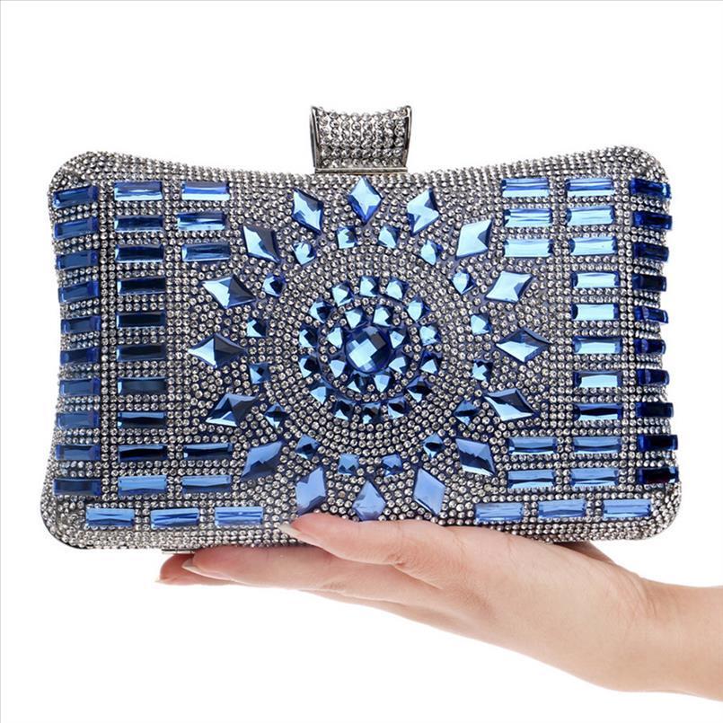 Evening Clutch Borse fissata diamante sacchetto di sera con borsa a tracolla delle donne borse portafogli sera borsa per matrimonio June19