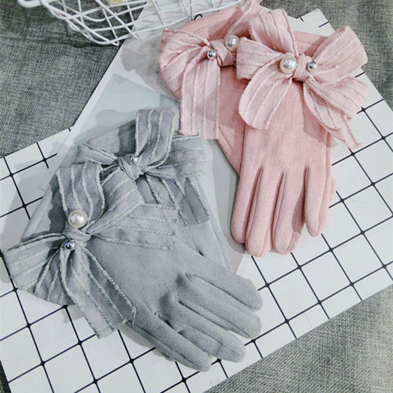 женщины розовой серой зимы взрослых мода перчатка варежка
