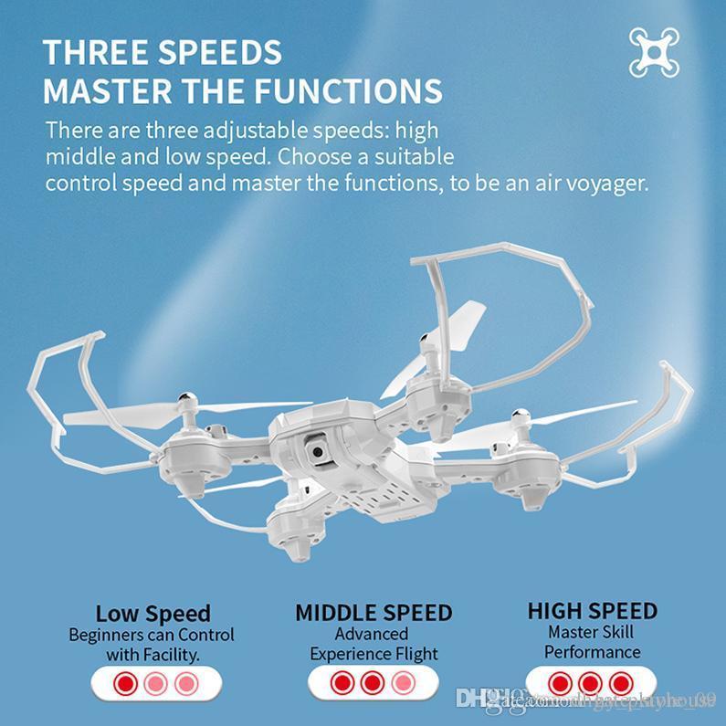 RC aviones no tripulados de cuatro ejes Drone HD de cámara ajustable a distancia control de la aeronave Quadrocopter Modo Juguetes sin cabeza del vuelo del helicóptero Niños Regalo 02