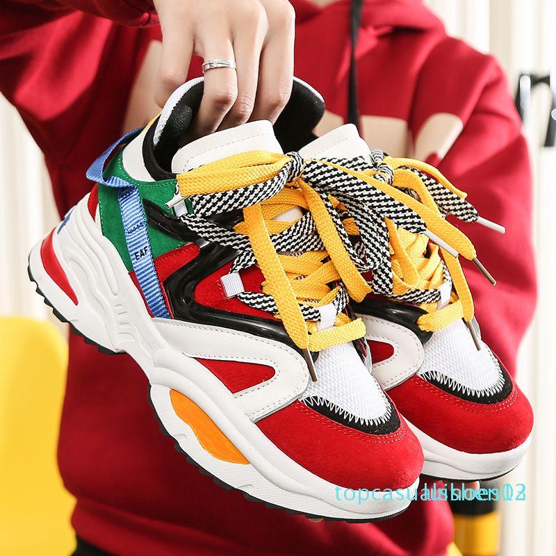 2199 Multi Farbe starke alleinige Dame-Plattform-Schuhe Höhe zunehmende Chunky Schuhe Damen Freizeitschuhe L12