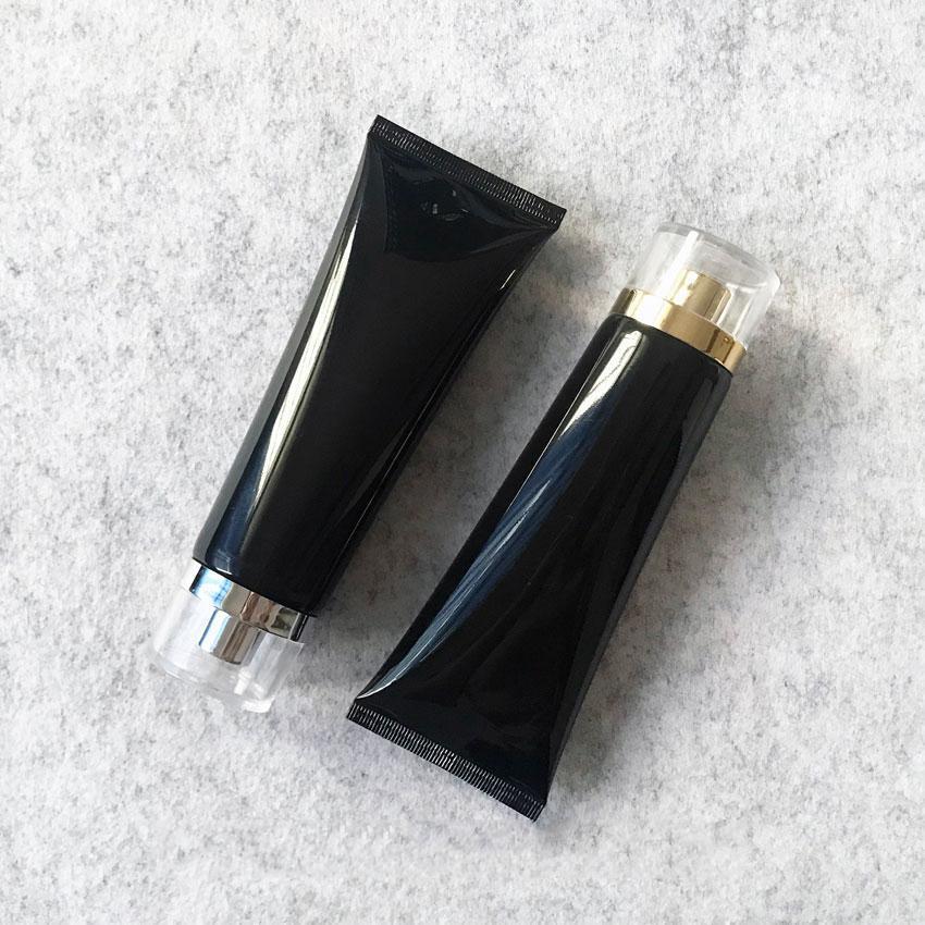 100g Black Plastic Cosmetic Cream Bottle 100ml Facial Cleanser Lotion Tube Hotel Supply Shampoo Packing Bottles
