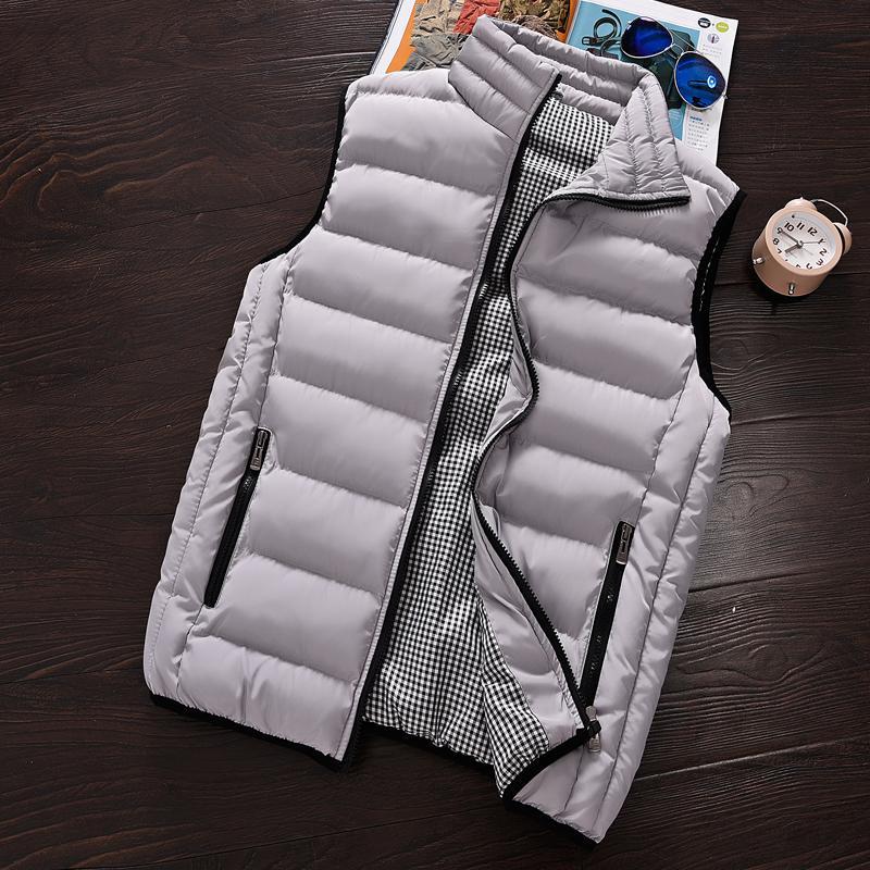 Chaleco chaleco de la manera de los hombres 2020 Nueva otoño invierno sin mangas caliente de la chaqueta del chaleco de los hombres de abrigos para hombre Casual 5XL CX200817