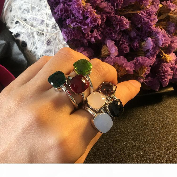 Top brass material paris design ring with nature jade and zircon decorate single ring charm bracelet for women and mother je