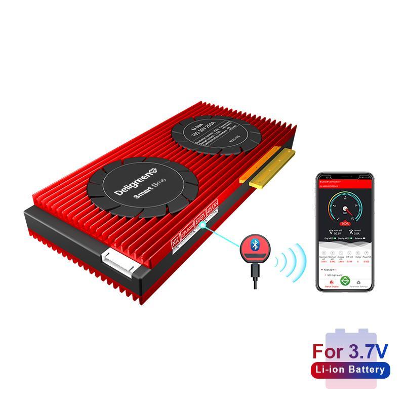 18650 умный BMS 10S 36V 150A 200A 250A Bluetooth 485 к USB устройства программного обеспечения CAN NTC UART литий-защиты батареи плата BMS