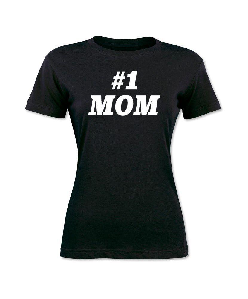 Nummer # 1 Mom Mothers Day Cool Trendy T-Shirt-Sommer-Art-beiläufiges Baumwoll Frau-T-Shirt weibliche natürliche Baumwolle Harajuku