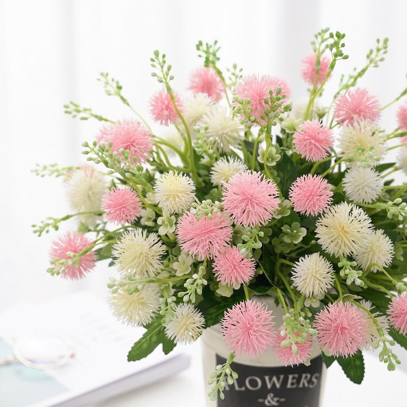 Regalo del día falso Mejor Vendedor Plant Simulation diente de león flores artificiales de plástico bricolaje flor de la decoración de la boda de San Valentín