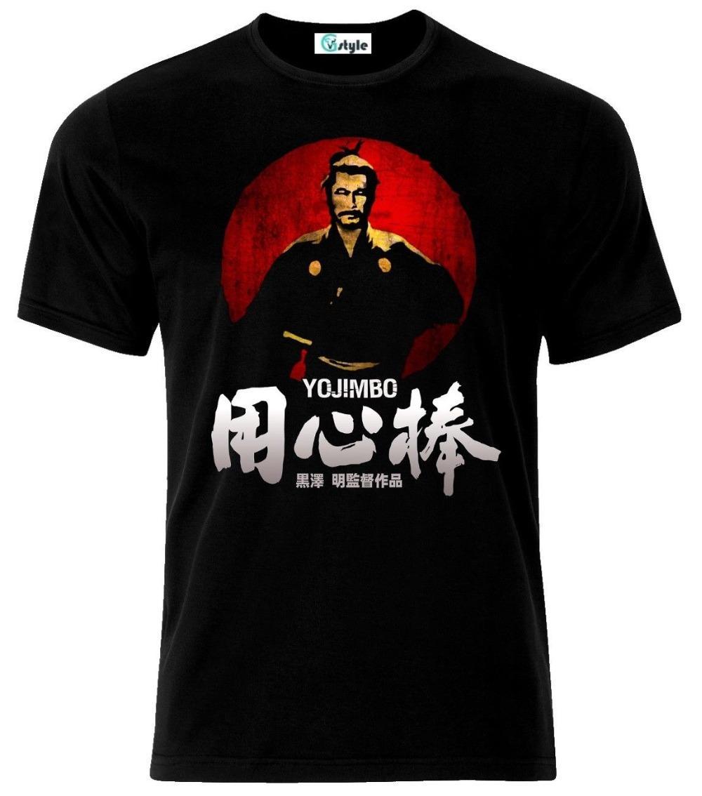 Yojimbo Sanjuro 클래식 사무라이 일본 영화 T 셔츠 2019 남성 여름 반팔 캐주얼 성인 T 셔츠 S-3XL 힙합 T 셔츠