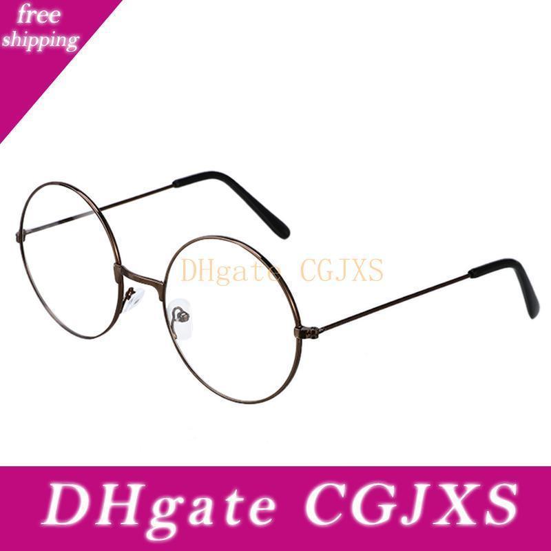 3 цвета унисекс ретро круглый Классический Урожай металла Круглый металлический каркас Солнцезащитные очки очки Мода