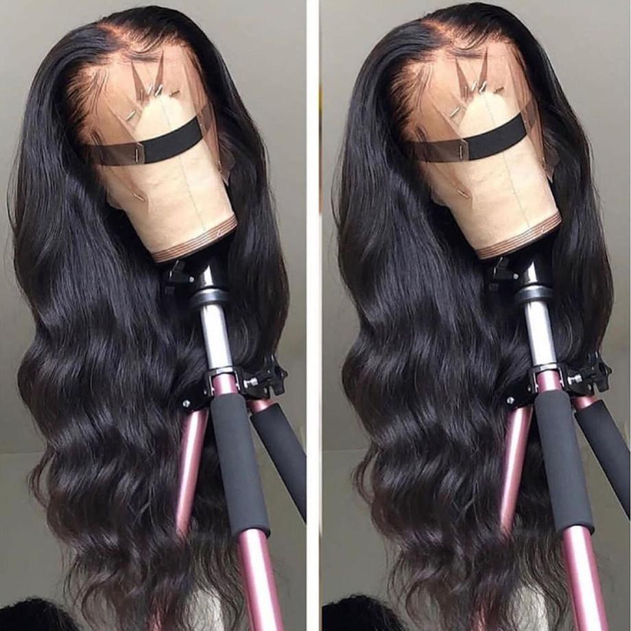 360 Lace Frontat perruques de cheveux humains pour les femmes noires Pré plumé avec bébé corps cheveux vague remy perruque de cheveux humains 150 Densité