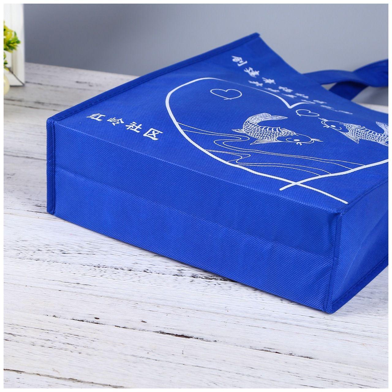 Professional Shopping non-woven creative exquisite coated non-woven handbag stereo shopping bag
