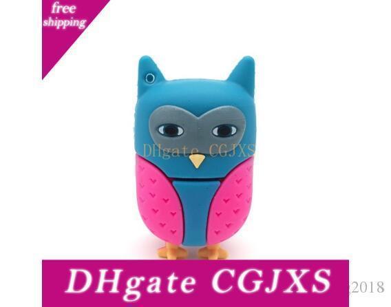 Fashion Usb Cartoon Animal Owl Pen Drive Silicone Usb Flash Drive 4gb 8gb 16gb 32gb 64gb Pendrive Usb 2 .0 Memory Stick U Disk