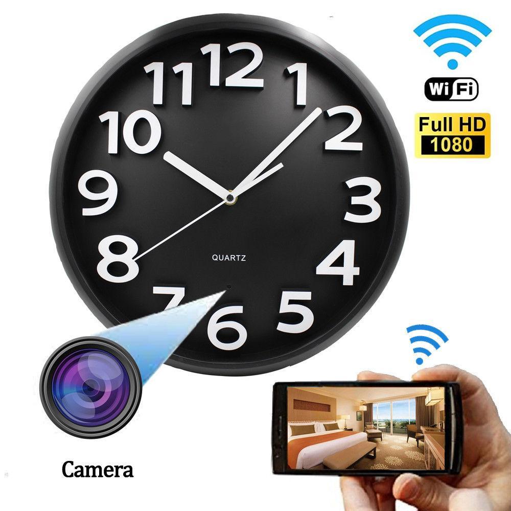جديد واي فاي p2p 1080 وعاء كامل hd جدار دائري ساعة الأمن كاميرا dvr الكشف المحمول المنزل مدبرة 24 ساعة تسجيل الفيديو الحية