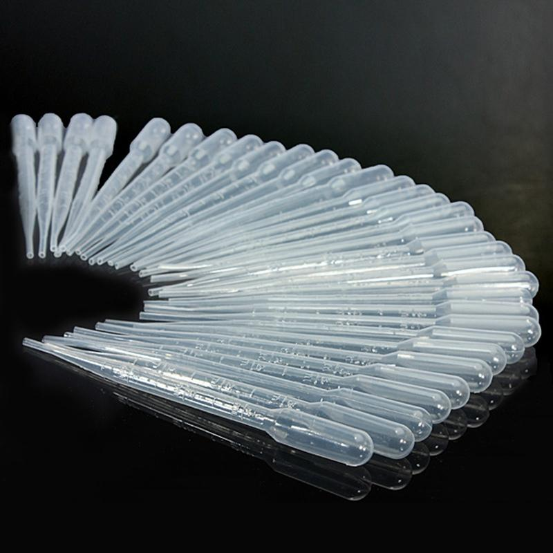 100PCS 0.2 / 1 / 3ML 실험 도구 일회용 피펫 플라스틱 파스퇴르 피펫 스포이드 폴리에틸렌 메이크업 도구 졸업