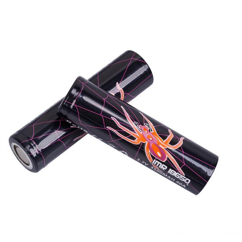 Black Widow IMR 18650 Батарея 3500mAh 3.7V 40A High Drain Rechargable Lithium батареи сотового для E CIG Box Mod Fast DHL